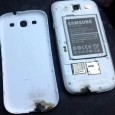 Samsung is investigating a Galaxy S III handset that suddenly burst into flames that immediately shows a partially melted bottom edge marked with blackening burn along with damaged polycarbonate cover,...